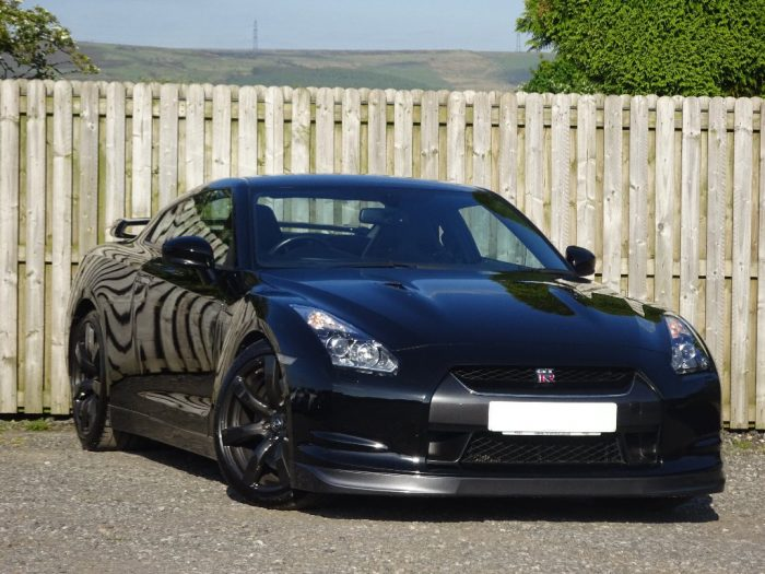 Front of Nissan GTR hire car