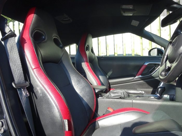 Inside seats of hire nissan gtr car Scotland