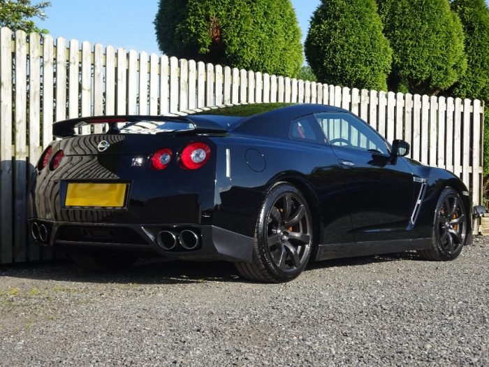 Rear side low photo of hire nissan gtr scotland Car Seekers