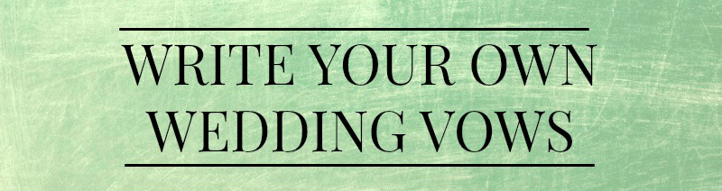 Graphic for Writing Your Own Wedding Vows