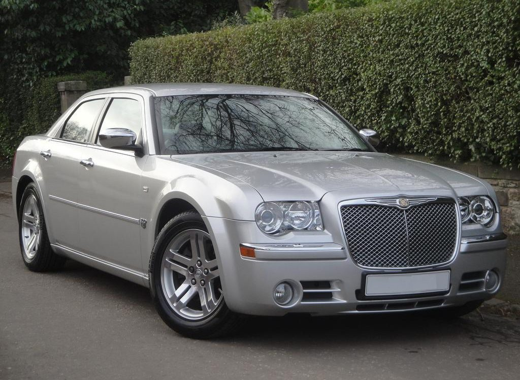 Image of our immaculate Chrysler 300c Baby Bentley wedding car Fife