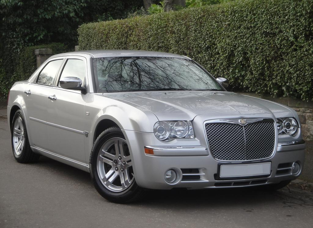 Image of our immaculate Chrysler 300c Baby Bentley wedding car in Fife